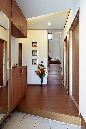 2階リビングの住宅