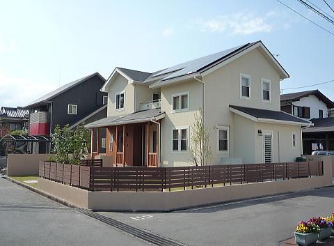 柔らかい質感の住宅